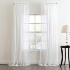 Home Classics Voile Window Treatments Bedroom Window Dressing, Home Curtains, Window Dressings, Teen Bedroom, Bedroom Ideas, Master Bedroom, Window Panels, Window Treatments, New Homes