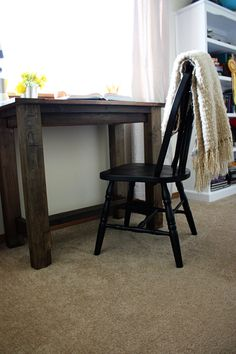 Farmhouse desk How-to age wood