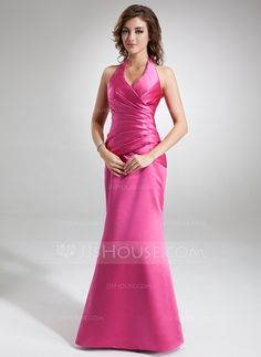 Holiday Dresses - $116.49 - Trumpet/Mermaid Halter Floor-Length Satin Holiday Dress With Ruffle (020032264) http://jjshouse.com/Trumpet-Mermaid-Halter-Floor-Length-Satin-Holiday-Dress-With-Ruffle-020032264-g32264?snsref=pt&utm_content=pt