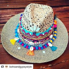 Mode Hippie, Hippie Chic, Boho Chic, Gypsy Style, Boho Gypsy, African Hats, Western Cowboy Hats, Leather Hats, Costumes