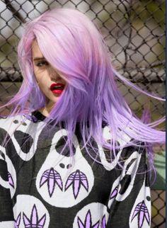 Colourful dip dye hair