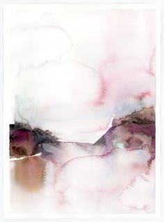 Abstract Watercolor : Conflate by Marta Spendowska, VERYMARTA, Polish-American artist, illustrator and textile designer.