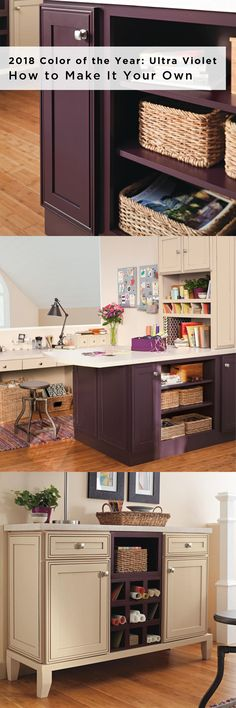 """Let the 2018 #ColoroftheYear Ultra Violet inspire a bold statement unique to you. Our lead designer Stephanie Pierce says, """"the best way to integrate vibrant choices in the home is through smaller areas of accent and subtle pops that don't wear out the excitement associated with the inclusion of stimulating colors."""" Design using the Decora Custom Color program."""