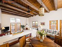 Santa Fe Vacation Rentals From VRBO www.Twocasitas.com Old Santa Fe Trail.. Light filled one bed room. Walk to the Plaza.