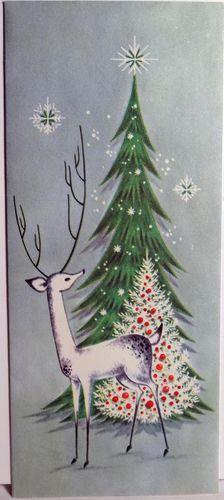 Modern Reindeer Deer by The Tree