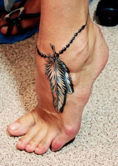 Tattoos for women Indian Feather Tattoos, Infinity Tattoo With Feather, Feather Tattoo Foot, Feather Tattoo Design, Facial Tattoos, Body Art Tattoos, Cute Tattoos, Beautiful Tattoos, Believe Tattoos