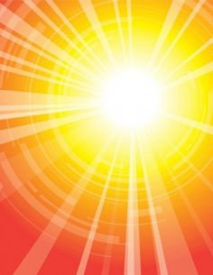 Bright sunburst on abstract background