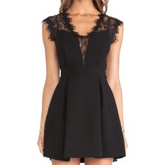 SheIn(sheinside) Black Sleeveless Sheer Lace Insert Pleated Dress ($18) ❤ liked on Polyvore