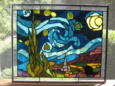 Starry Night - Delphi Stained Glass.
