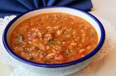 Sopa de arroz picante, para los 'amantes del picante' esta sopa les resultará 'picantita' sin que llegue a ser exagerada.