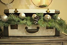 Christmas suitcase vignette from: The Lily Pad Cottage: Welcome Christmas