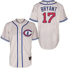 6e558d9bf25 Men s Chicago Cubs 1929 Kris Bryant Majestic 100th Anniversary