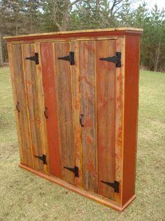 barn wood lockers - mud room storage idea