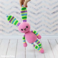 Stripy rabbit crochet pattern