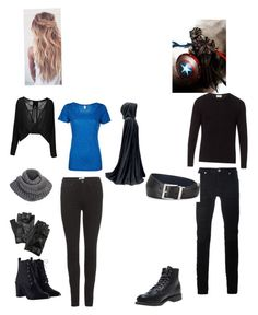 """""""The Midnight Assassin and Knight Steve Rogers"""" by bethany-stailey on Polyvore featuring Simplex Apparel, Acne Studios, Zimmermann, Carolina Amato, adidas, American Vintage, Diesel Black Gold, Wolverine and Prada"""