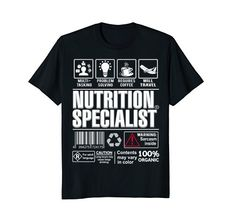f9ed879c07 Funny Gifts, Nutrition, Funny Presents, Fun Gifts, Meals. PHAM THANH TAM ·  Nutrition Specialist T-Shirts