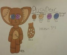 PlushDear, The Plush Deer Reference Sheet ((Made By: MagicalCreativity))