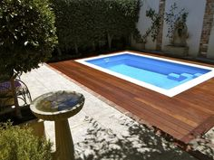 Our client wanted a contrast between the blue swimming pool and the surround so we suggested a timber deck. This is Merbau and a beautiful hardwood to withstand the Western Australian climate.