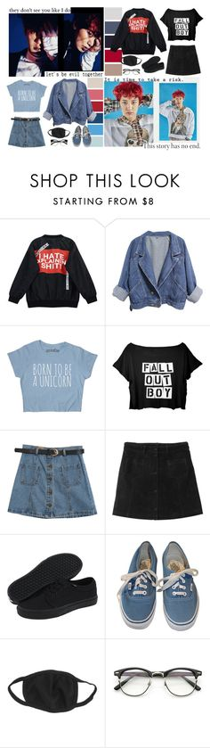 """""""The Lucky Monster"""" by anapotato1d ❤ liked on Polyvore featuring Chicnova Fashion, Monki and Vans"""