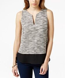 Sanctuary Holiday Layered Contrast Top