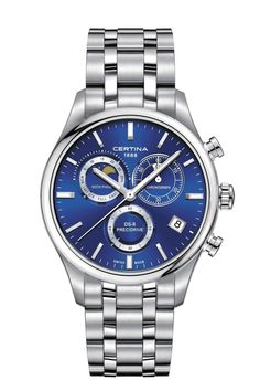 Certina Watch Chrono Moon Phase Watch available to buy online from with free UK delivery. Swiss Made Watches, Fine Watches, Rolex Watches, Watches For Men, World Of Sports, 316l Stainless Steel, Moon Phases, Chronograph, Omega