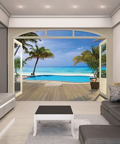 Look at this Paradise Beach Wall Mural on #zulily today!