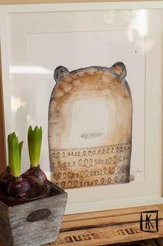 foto-ilustracje dla dzieci: Pan Grizli podróżuje:)