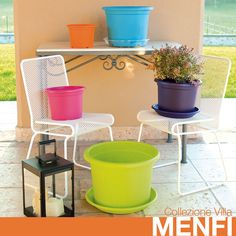 #Vasi MENFI Collezione Villa.  Tantissime misure e #colori diversi per il tuo #giardino!