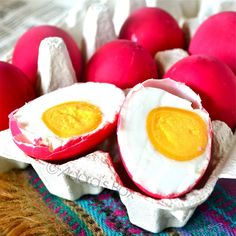 Salted duck eggs. we have our own recipe....but they arent red......we love these!