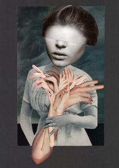"""""""Armbouquet"""" - Collage 2014 – 29,7 x 21 cm - (c) Sabine Remy - http://miriskum.de/"""