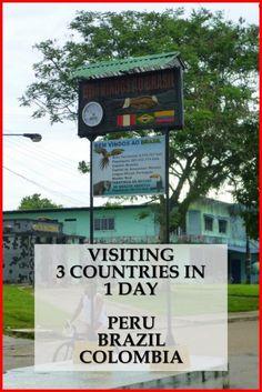The 3-point border of Leticia - Colombia, Tabatinga - Brazil, Santa Rosa - Peru