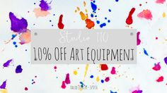 Get in quick before we run out of Art Equipment! Sale Ends September Under Construction, Studio, Day, September, Studios