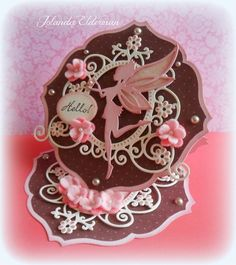 Use your newest MD goodies at Marianne DEsign Diva's by DT Jolanda Easel Cards, 3d Cards, Fancy Fold Cards, Folded Cards, Marianne Design Cards, Fairy Silhouette, Diy Crafts For Girls, Spellbinders Cards, Paper Lace