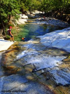 Tobogan at Fonias canyon, Samothrace, Greece Rivers, Lakes, Greece, Waterfall, Scenery, Swimming, Italy, Island, Adventure
