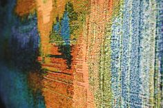 Glitch Textiles These textiles are a collection of woven and knit wall hangings and blankets whose patterns are generated using images taken with short circuited cameras. Textile Design, Textile Art, Fabric Design, Inkle Loom, Photo Blanket, Glitch Art, Tapestry Weaving, Jacquard Weave, Fabric Art