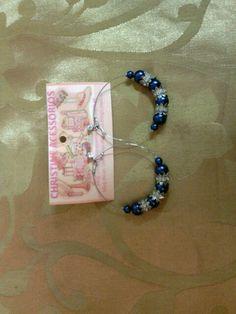 Biju- brinco médio argola azulão