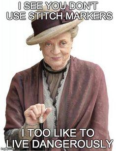 Knitting & Maggie Smith.