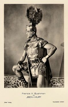 Francis X. Bushman in Ben-Hur. German postcard by Ross-Verlag, no. 133/2. Photo: Metro-Goldwyn-Mayer. Publicity still for <i>Ben-Hur</i> (Fred Niblo, 1925).