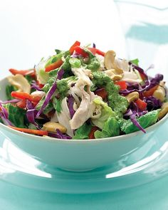 Asian Chicken Salad #Recipe. If #celiac #coeliac, #caution on using #Rotisserie chxn - #CrossContamination, #Glutenfree. Cook ur own chicken. =)