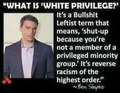 I wish I had me some white privilege