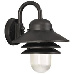 "Marlex Nautical 13"" High Black Outdoor Wall Light"