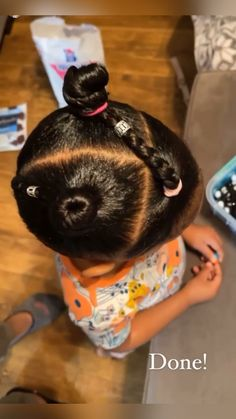 Little Girls Ponytail Hairstyles, Little Girl Ponytails, Black Toddler Hairstyles, Little Girls Natural Hairstyles, Natural Hairstyles For Kids, Kids Braided Hairstyles, Hairstyles For Babies, Girl Hair Dos, Space Buns