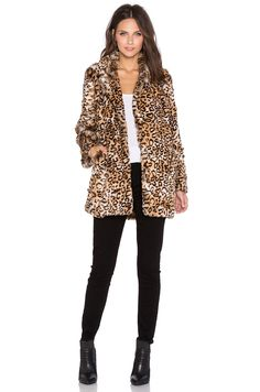 Lucy Paris Cats Meow Faux Fur Coat in Leopard