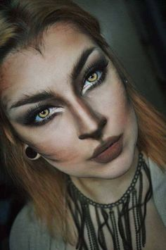 Looking for for inspiration for your Halloween make-up? Navigate here for perfect Halloween makeup looks. : Looking for for inspiration for your Halloween make-up? Navigate here for perfect Halloween makeup looks. Halloween Zombie Makeup, Chat Halloween, Halloween Inspo, Halloween Makeup Looks, Halloween 2018, Rabbit Halloween, Halloween Images, Wolf Make Up Halloween, Wolf Halloween Costume