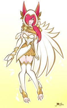 Star guardian Xayah, fan skin for LoL