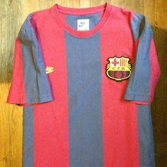 1970 FC Barcelona Home Jersey // • Primera equipació del FC Barcelona per a les… Camp Nou, Fc Barcelona, E Sport, Football Kits, Messi, Leo, Soccer, Nike, Sweatshirts