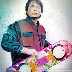 Marty and his Hoverboard.