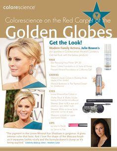 Julie Bowen's Golden Globe look with Colorescience makeup!
