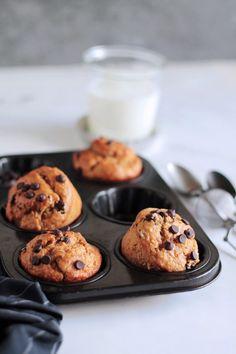 Υγιεινά μάφινς με μπανάνα | The one with all the tastes The One, Sweet Recipes, Muffins, Cooking Recipes, Cookies, Healthy, Breakfast, Cake, Desserts