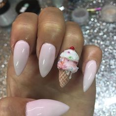 Pin for Later: Ice Cream Nail Art Is the Sweetest Manicure Trend of Summer